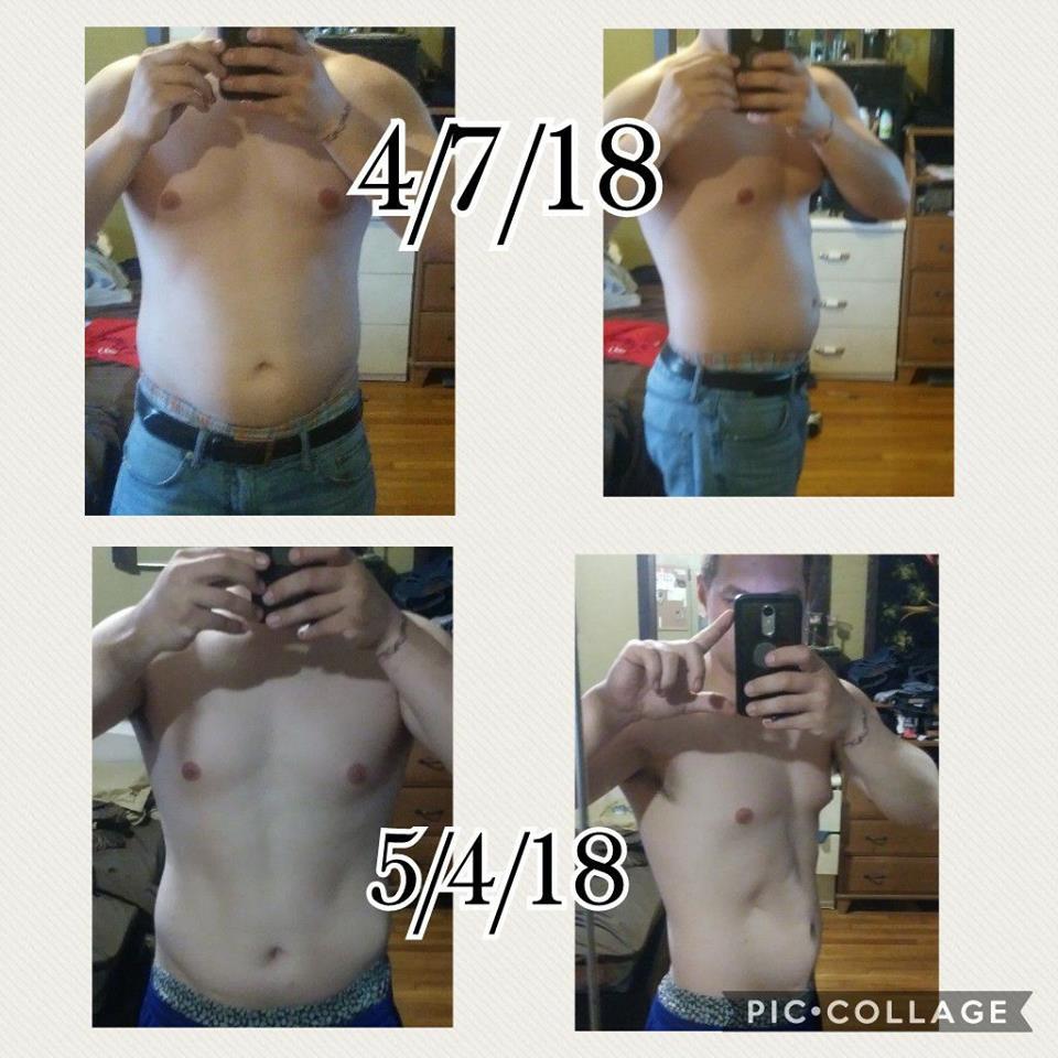 4 weeks on gel, not a clean diet_n